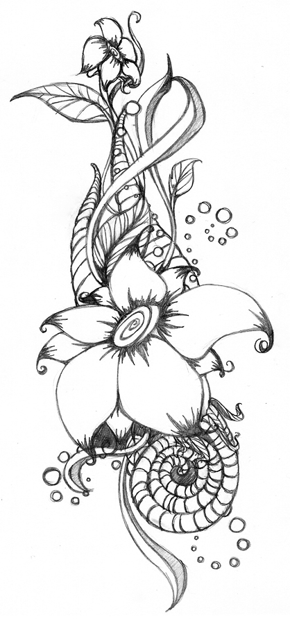 half flower coloring pages - photo #41