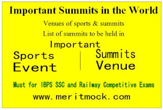 Important Summits Venue