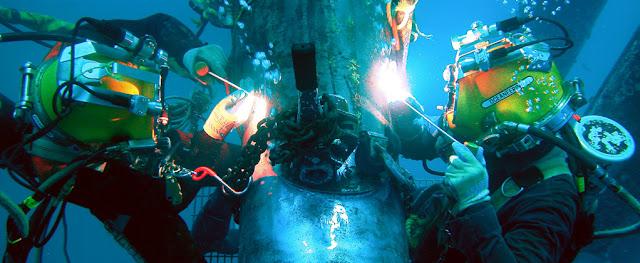 underwater welder and inspector