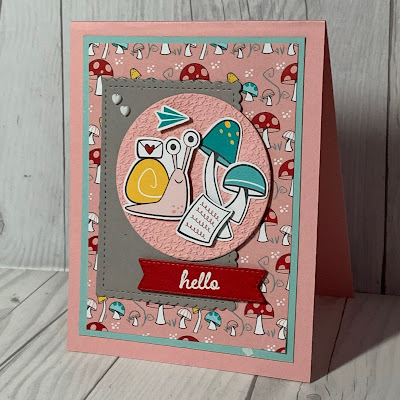 Greeting card glorifying Snail Mail using Snailed It Stamp Set from Stampin' Up!