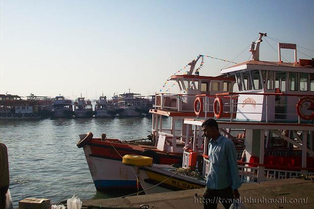 Ferry to Elephanta at Gateway of India in Mumbai