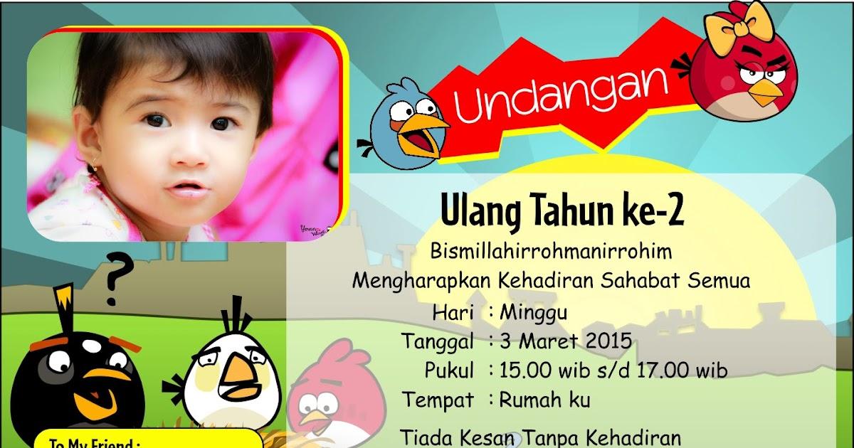 Download Kartu Undangan Ulang Tahun Anak Cdr