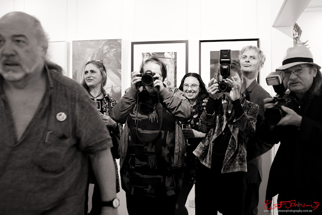 ‎Edmond Thommen and photographers at‎ BLENDEDnudes at M2 Gallery Photo by Kent Johnson for Street Fashion Sydney.