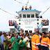 """Wakazi wa Ukerewe waipokea kwa shangwe MV Ukara II """"Hapa Kazi Tu"""""""