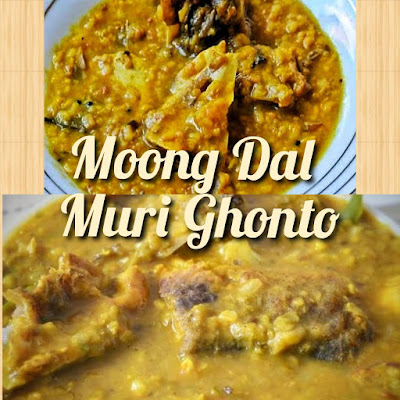 Muri ghonto with moong dal