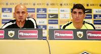 Βίντεο με την συνέντευξη τύπου του Κετσπάγια και του Μάνταλου ενόψει του αγώνα της ΑΕΚ με την Saint Etienne