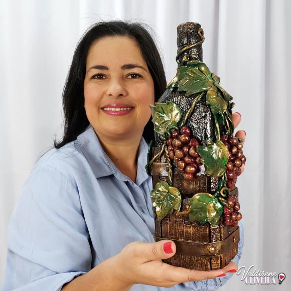 artesanato com garrafa de vidro