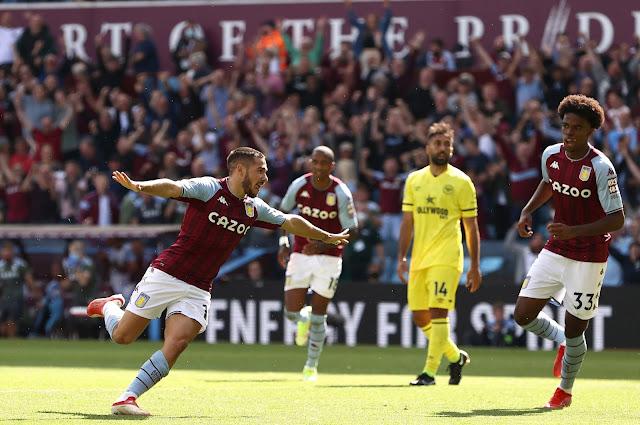 اهداف مباراة مباراة أستون فيلا وبرينتفورد (1-1) الدوري الانجليزي