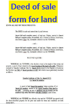 deed of sale form for land