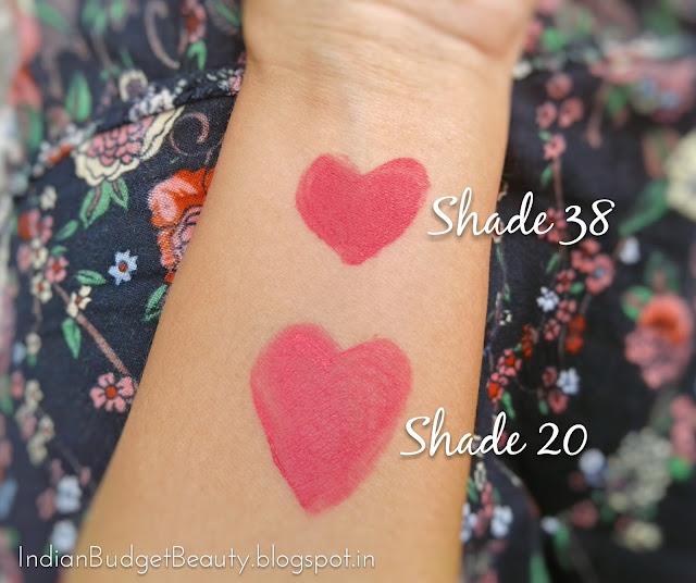 Miss Claire Soft Matte Lip Cream - 20 & 38 swatches
