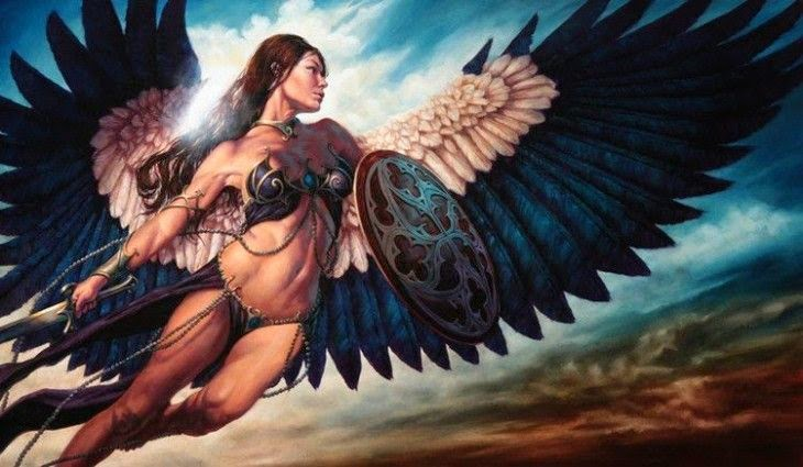 Ilustraciones de mujeres guerreras