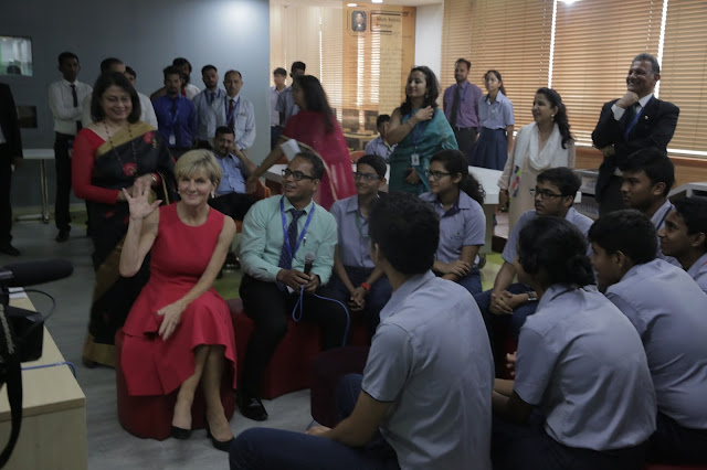Australian Minister for Foreign Affairs Visits Shiv Nadar School