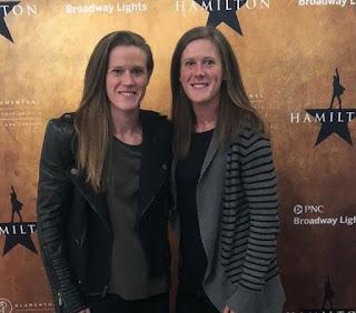 Alyssa Naeher with her twin sister Amanda Naeher