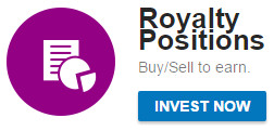 Royalty Positions MyTrafficValue paidverts share invest money dinheiro buy sell