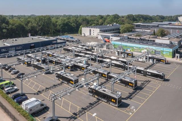 Shell abrió su primer punto para recargar hidrógeno en autobuses