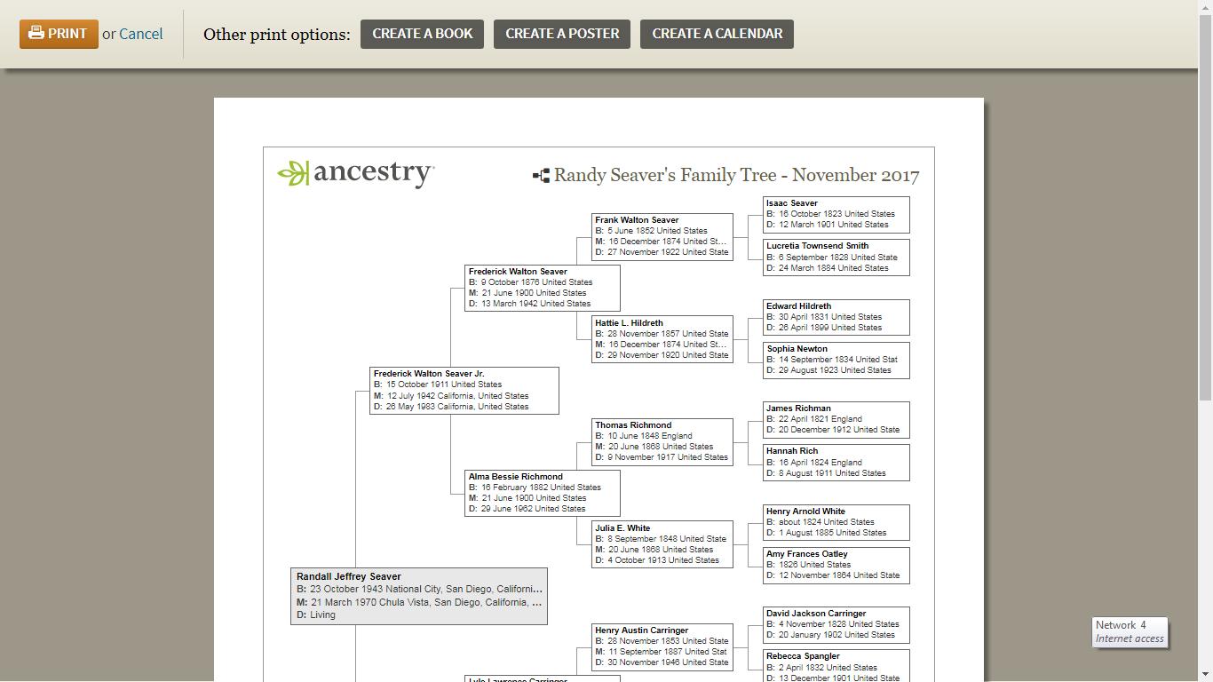 genea musings dear randy can i print a pedigree chart of my
