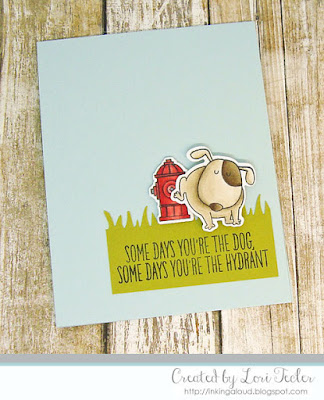 Some Days You're the Dog card-designed by Lori Tecler/Inking Aloud-stamps and dies from My Favorite Things