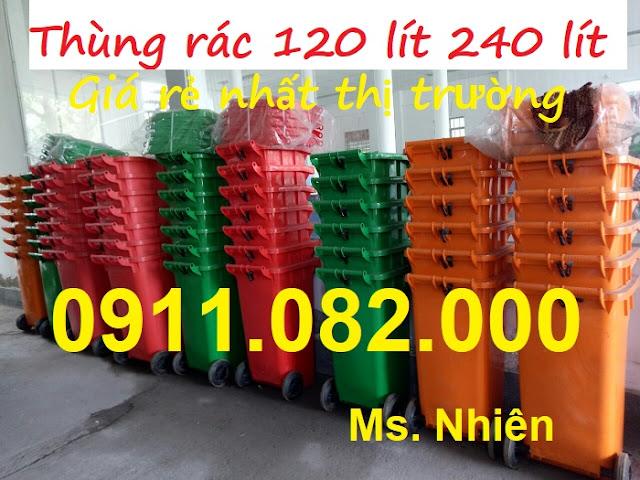 Nơi bán thùng rác 120L 240L 660L giá rẻ tại long an-tiền giang