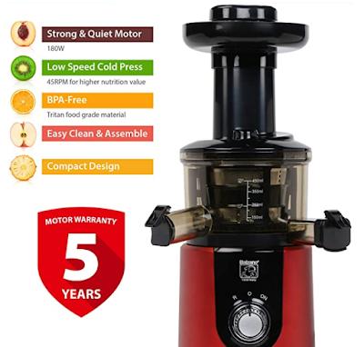 Balzano ZZJ827M 180 Watt Cold Press Slow Juicer To Complete Your Daily Juice Requirements