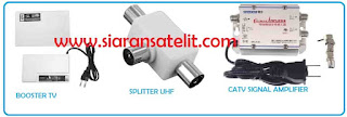 Booster tv splitter dan catv signal amplifier