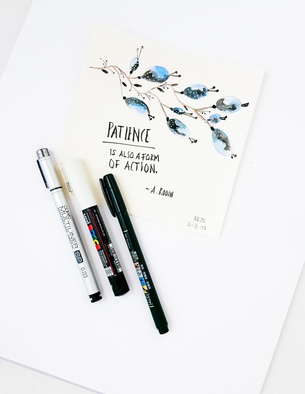 Zitate in Aquarell - die 30 Tage Herausforderung (Teil 3) - Janna Werner