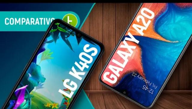 LG K40S vs GALXY A20