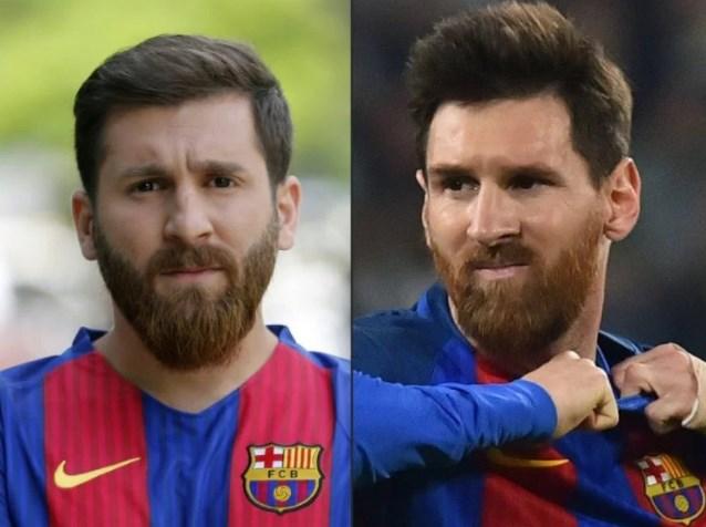 Mahasiswa Iran Bernama Reza Parastesh Yang Mirip Lionel Messi