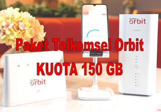 Paket TELKOMSEL ORBIT, Kuota 150 GB Internet CEPAT