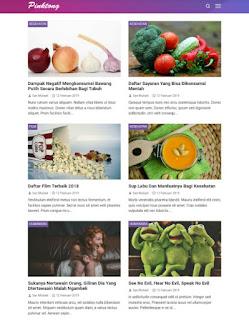 Template blog pinktong