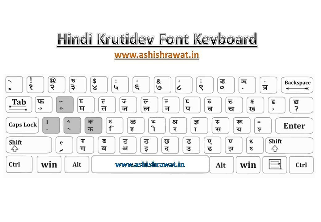 Krutidev Hindi Font Keyboard Gyaan Booster
