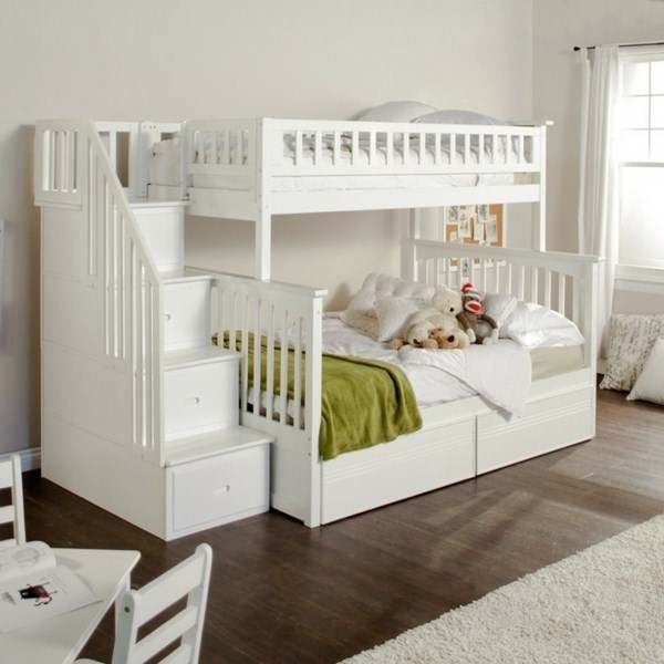 Bunk Bed With Double Bed Underneath Stairs