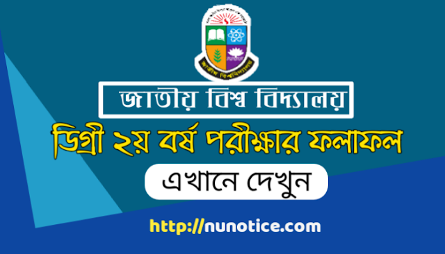 NU Degree 2nd year exam result 2019