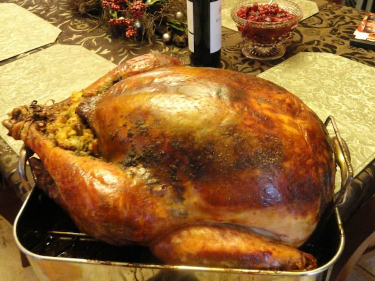 Super Moist Turkey baked in cheesecloth is the perfect recipe for Thanksgiving! Perfect Turkey every time from Serena Bakes Simply From scratch.