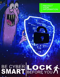 cyber smart lock - lock before you leave poster
