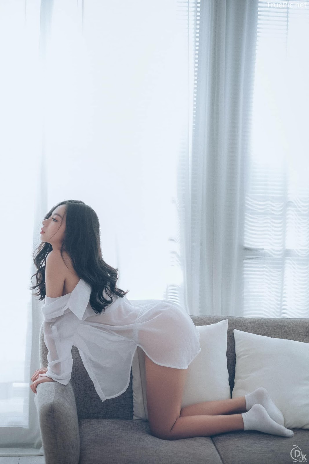 Vietnamese Sexy Model - Vu Ngoc Kim Chi - Beautiful in white - TruePic.net- Picture 5