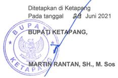 Tanda Tangan Bupati ketapang Martin Rantan,SH., M. Sos