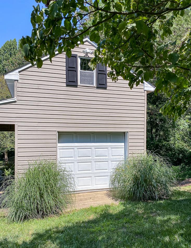 Deck garage door before