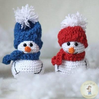 Снеговички амигуруми