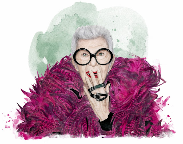 fashion portrait of iris apfel by Dena Cooper
