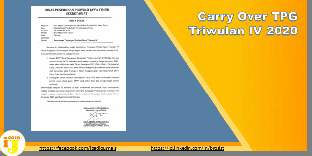 Carry Over TPG Triwulan IV 2020