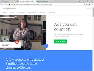 Cara mendaftar akun adsense non hosted Full Approve terbaru