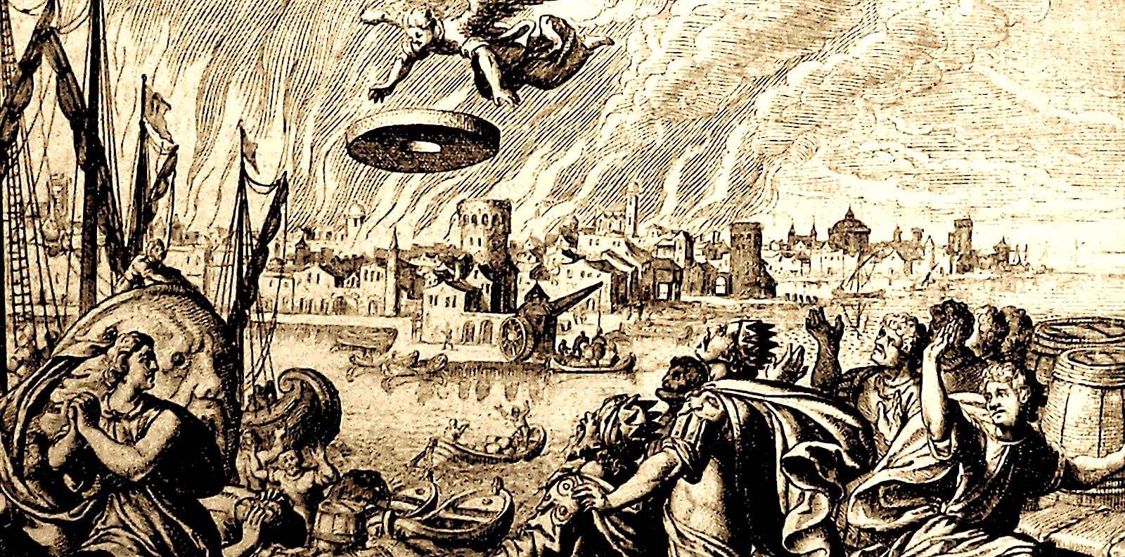 Уничтожение Вавилона по представлениям Средних веков
