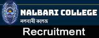 Nalbari College Recruitment 2019-Assistant Professors [05 posts]