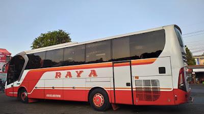 Foto Bus Raya Legacy Samping