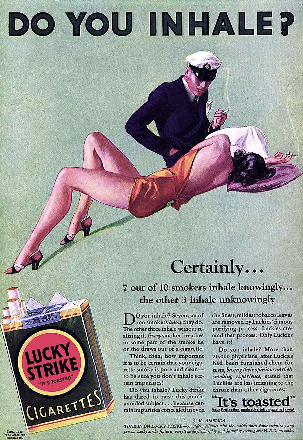 Lucky Strike cigarettes, sex in advertising, Do you inhale