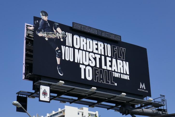 Skateboarding MasterClass Tony Hawk billboard