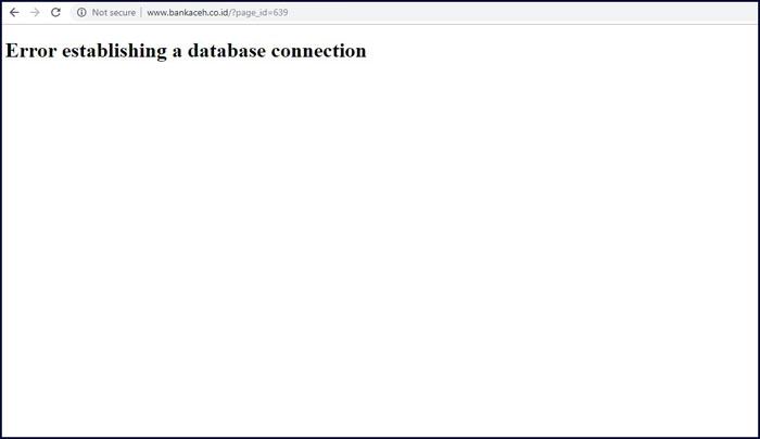 website eror