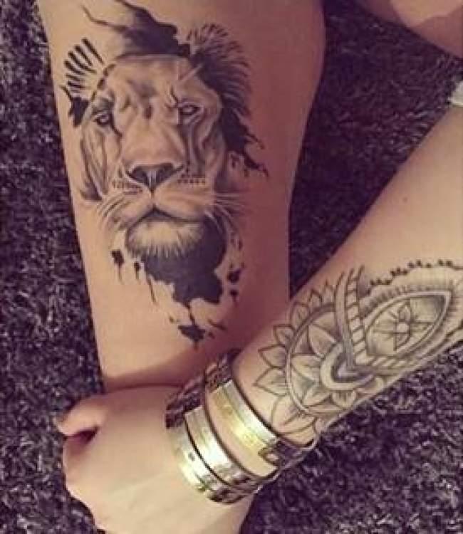 lion-tatouage féminin-4