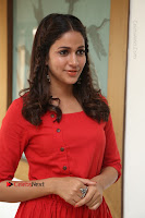 Actress Lavanya Tripathi Latest Pos in Red Dress at Radha Movie Success Meet .COM 0181.JPG