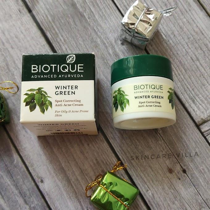 Biotique Bio Winter Green Spot Correcting Anti-Acne Cream Review